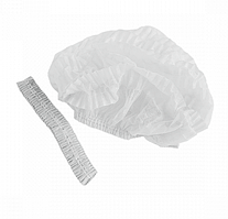 Шапочки одноразовые из спанбонда ASTRA белые