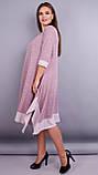 Адажио. Прелестное платье больших размеров. Пудра., фото 3
