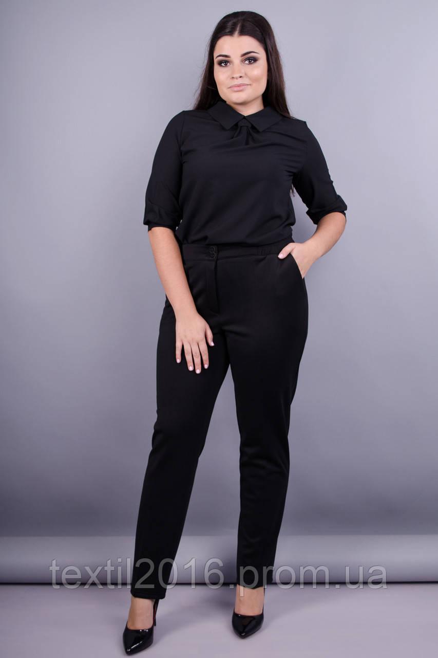 Елія д/ф. Класичні батальні жіночі брюки . Чорний.