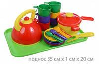 Игрушечный Набор Посуды Юника 23 предмета пластик