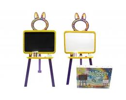Доска для рисования Мольберт 2в1 Doloni Toys 47х40 см. Магнитная напольная доска с мелом, мочалкой и маркером