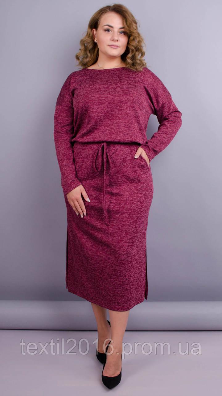 Леся. Оригінальне плаття для пишних дам. Бордо.