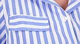 Ірина. Сукня-сорочка великих розмірів. Блакитна смуга., фото 6