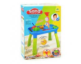 Детский игровой набор Песочница-столик с лопатками HongiUanSheng. Столик для игры с песком для детей от 3 лет