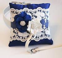 Свадебная подушечка для колец (размер 15х15см)