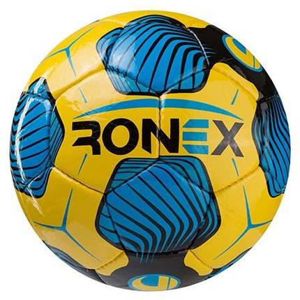 Мяч футбольный DXN Ronex (UHL), желто/голубой, фото 2