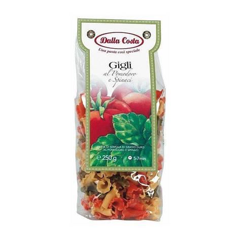 Макарони DALLA COSTA Gigli з томатом і шпинатом 250 г, фото 2