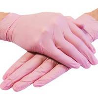 Перчатки нитриловые Astra розовые S