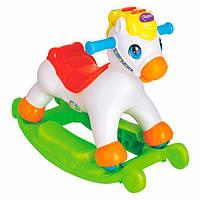 """Музыкальная детская качалка-каталка на батарейках """"Пони с музыкой"""" Hola Toys, 63 х 32х 39 см"""