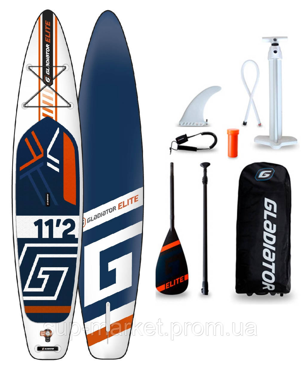 SUP доска Gladiator ELITE 11'2'' x 30'' x 4.75'', 26psi, 2020