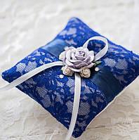 Свадебная подушечка для колец (размер 10х10см)