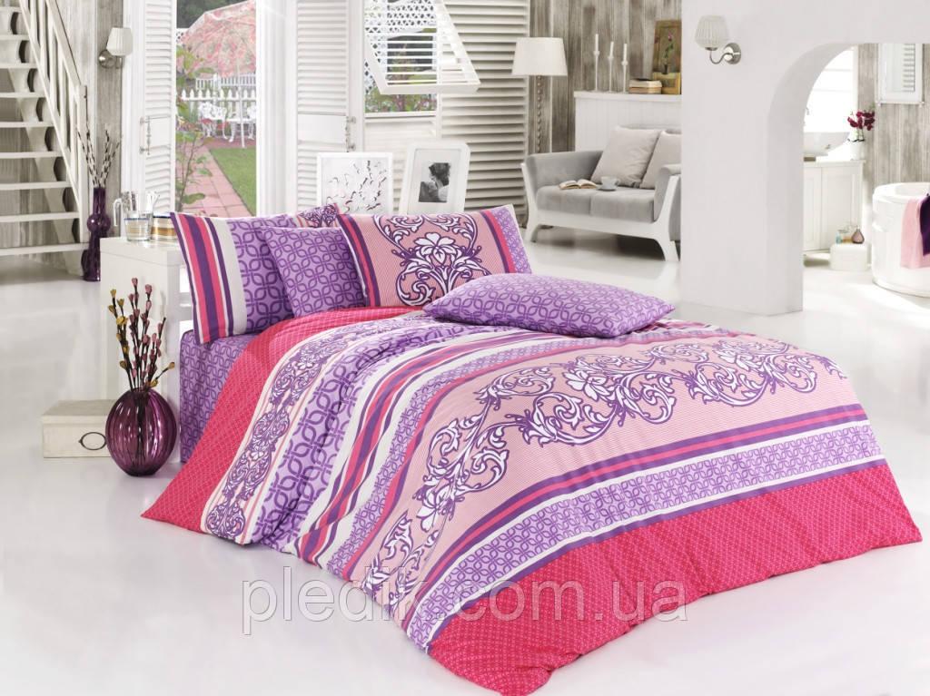 Набор постельного белья 200х220 бязь люкс, Class (Bahar teksil) Bardic v1 Fusya