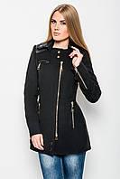 Полуприлегающее пальто из кашемира с ассиметричной застежкой-молнией и отложным воротником из искусственной ко