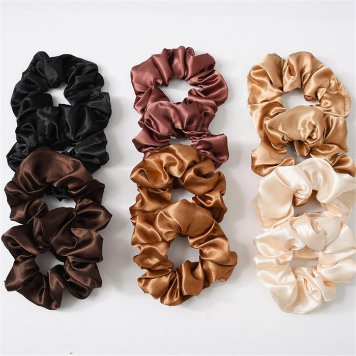 """Гумка об'ємна для волосся """"Brown Atlas"""", різні кольори"""