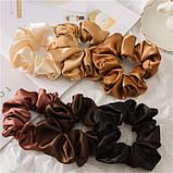 """Гумка об'ємна для волосся """"Brown Atlas"""", різні кольори, фото 2"""