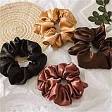 """Гумка об'ємна для волосся """"Brown Atlas"""", різні кольори, фото 3"""
