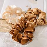 """Гумка об'ємна для волосся """"Brown Atlas"""", різні кольори, фото 4"""