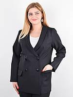 Дольче. Пиджак для офиса plus size. Черный., фото 1