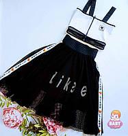 Подростковый модный комплект (топ+юбка)