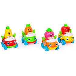 Игрушка детская пластиковая инерционная Hola Toys Машинка Тутти-Фрутти, 8 штук