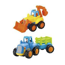 Детская игрушка пластиковая инерционная машинка Hola Toys Сельхозмашинка, 6 штук