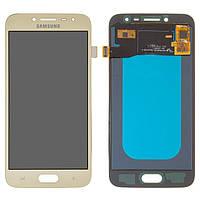Дисплей для Samsung J250 Galaxy J2 (2018), J250 Galaxy J2 Pro (2018), золотистий, із сенсорним екраном, (OLED), High Copy
