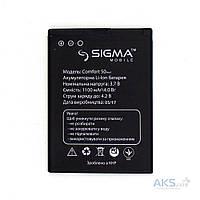 Аккумулятор для телефона Sigma mobile Comfort 50 Light DS Tinol (1100 mAh) 12 мес. гарантии