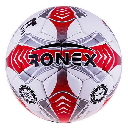 Мяч футбольный Grippy Ronex EGEO, красный, фото 2