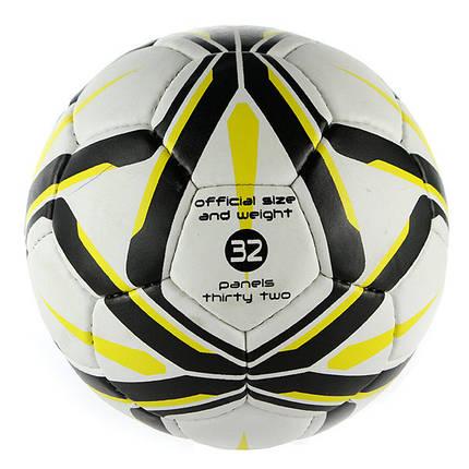 Мяч футбольный Grippy Ronex ORIEL, желто-черный, фото 2