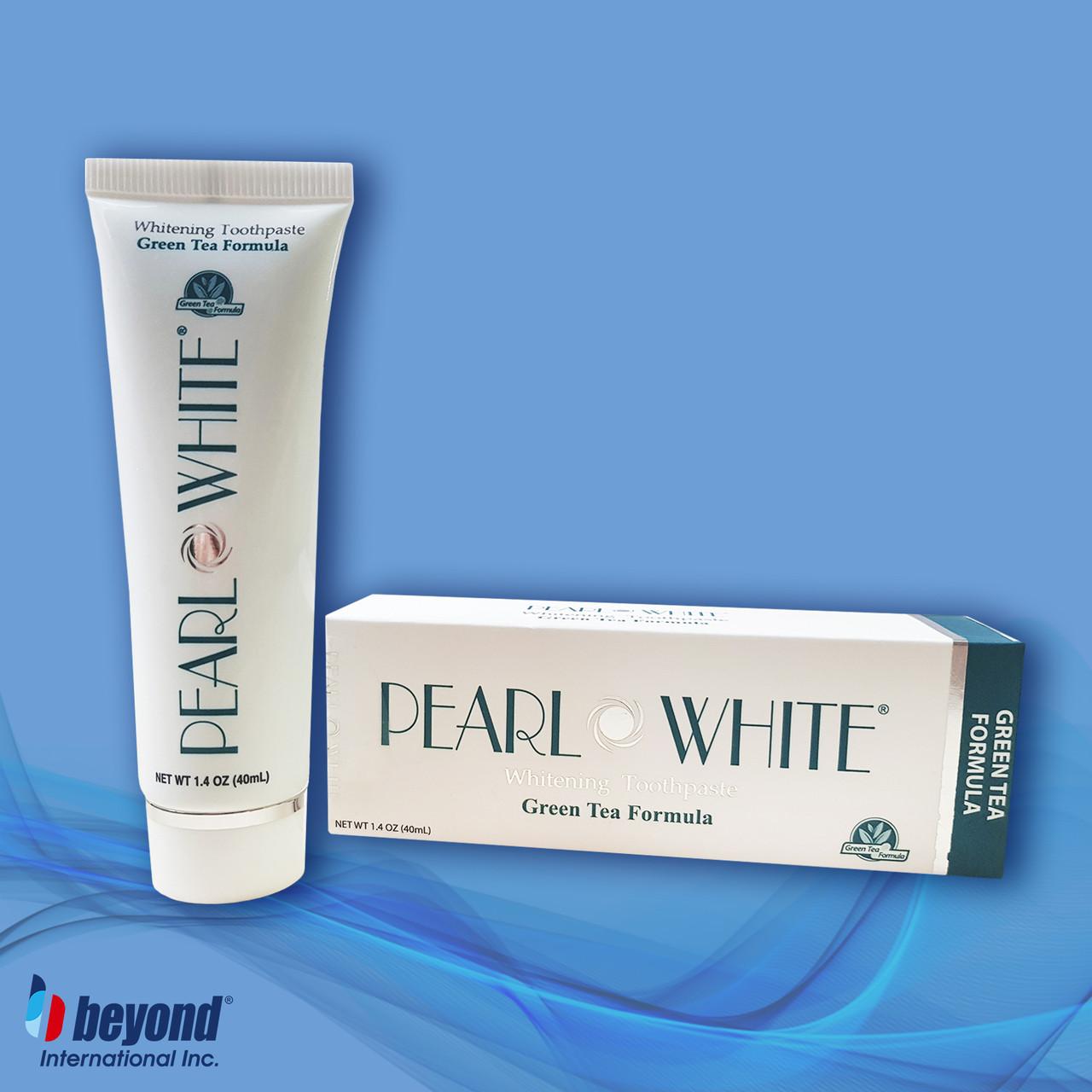 Отбеливающая зубная паста с защитой от кариеса и воспаления десен Beyond Pearl White Green Tea 40мл
