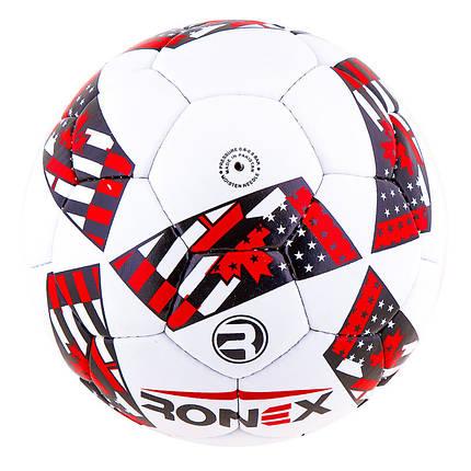 Мяч футбольный Grippy Ronex AD-16, красный, фото 2