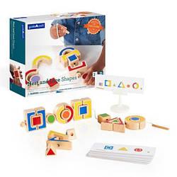 Шнуровка для ребенка обучающий набор Guidecraft Manipulatives Формы, 35 деталей