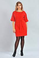 Стильное женское платье с вышивкой на рукавах