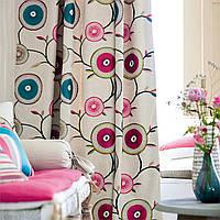 Обои, ткани для штор, обивочные ткани, комплексное решение интерьера в стиле фьюжн.