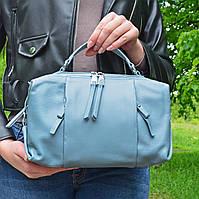 Женская голубая сумочка из натуральной кожи - A91579/Lightblue