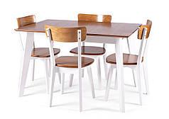 Обеденный комплект/ стол MILANO + стулья TOR белый дуб