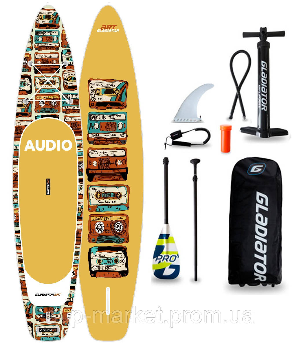 "SUP доска Gladiator 90TH 11'2"" x 31"" x 4,75"", 26psi, 2020"
