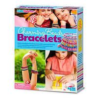 Детский набор для творчества 4M Браслеты из бусин со станком для плетения