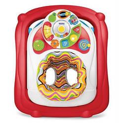 """Детские ходунки с игровой музыкальной панелью на батарейках """"Карусель"""" Weina, красный"""