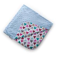 "Легкий конверт - плед для новорожденных Twins Minky ""Лето"", 75х75 см., голубий"