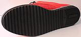Червоні кросівки жіночі від виробника модель РУ137-2, фото 5