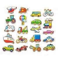 "Набор магнитных фигурок Viga Toys ""Транспорт"" 20 шт. (58924)"