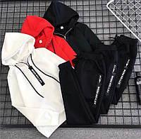 Костюм спортивный женский чёрный красный белый