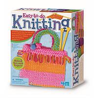 Детский набор для творчества с нитками и спицами 4M Простое вязание