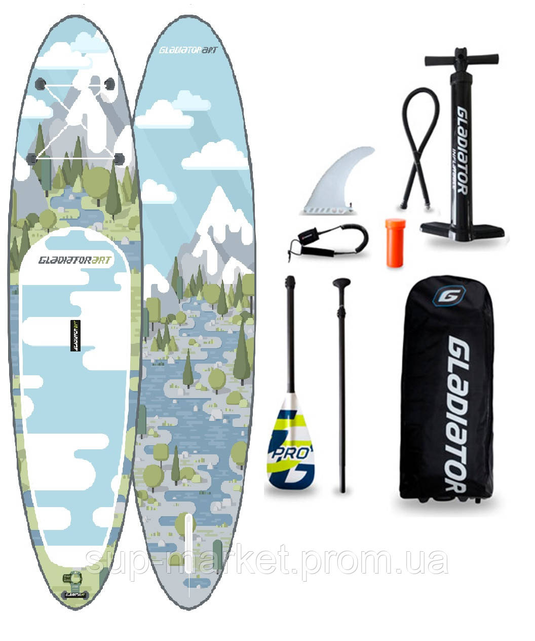 """SUP доска Gladiator FOREST 10'8"""" x 34'' x 6'', 26psi"""