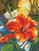 Схема на канве для вышивки крестом Цветок магнолии Ркан 3035