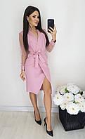 Женское нарядное платье чёрное пудра 42-44 46-48