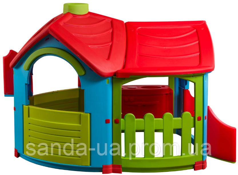 Детский игровой домик 165х102х126  PalPlay Triangle Villa with extension 26684