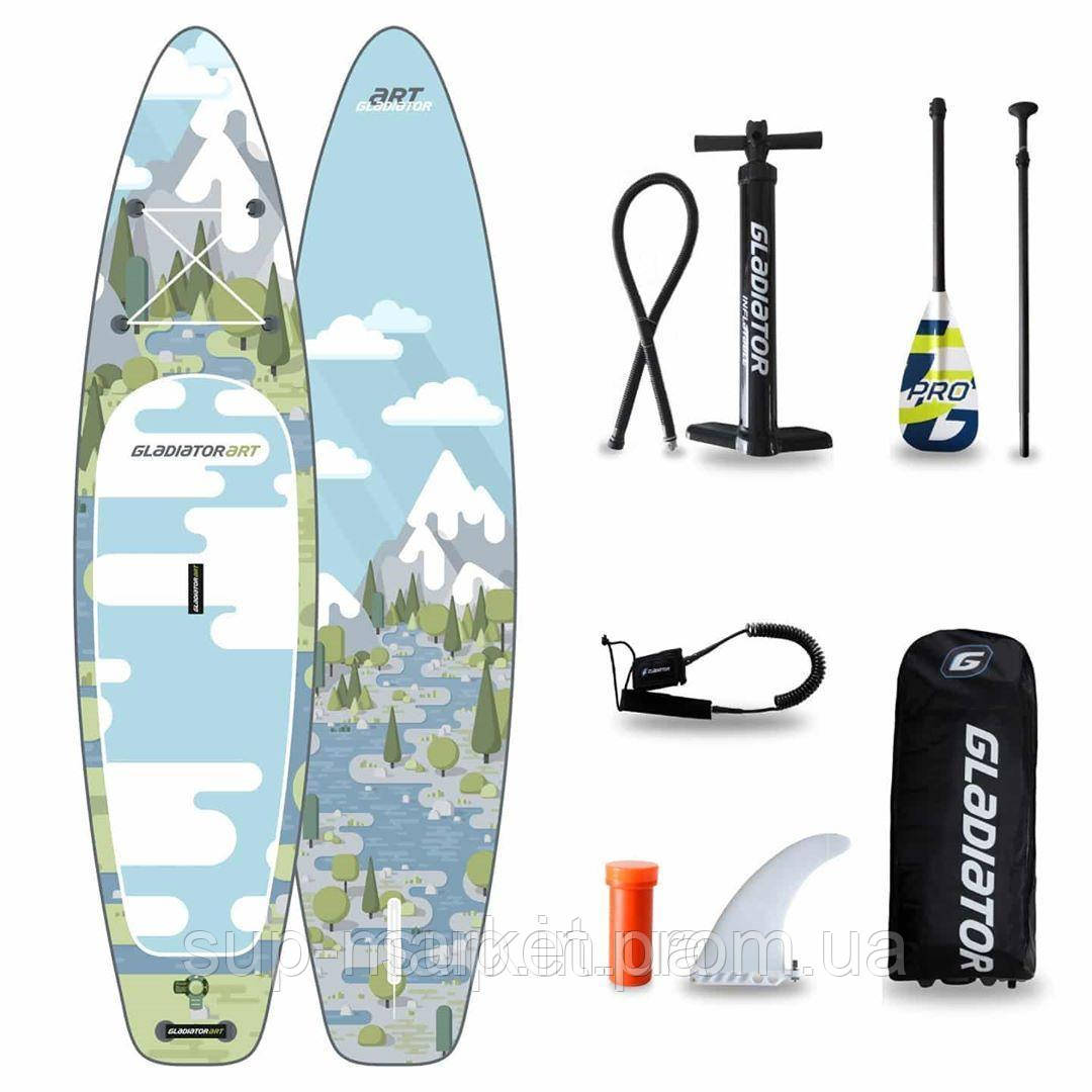 """SUP доска Gladiator FOREST 11'2"""" x 31"""" x 4,75"""", 26psi, 2020"""
