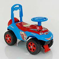 """Машинка-каталка толокар для детей с багажником """"Автошка"""" Doloni Toys, 60 x 28 x 49 см, голубой"""